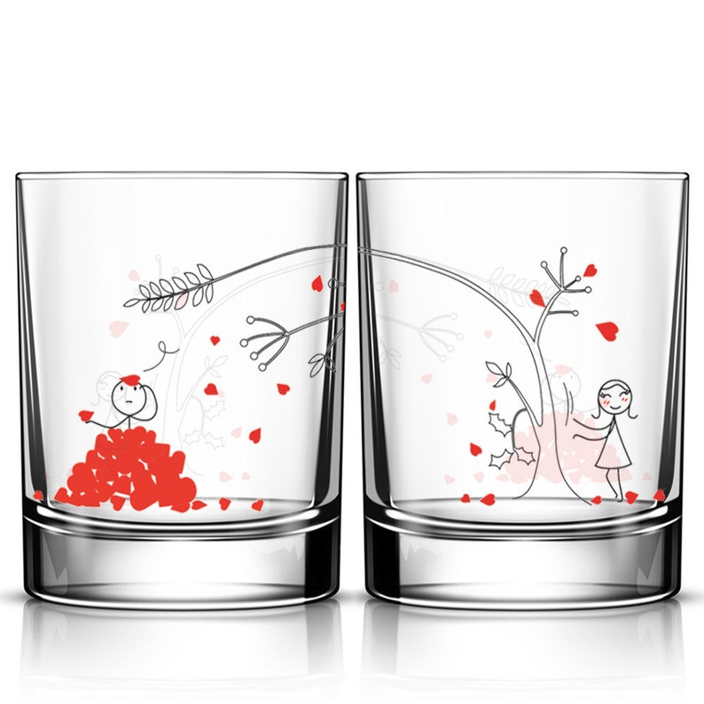 BOLDLOFTForever His and Hers Drinking Glasses-Wedding Gifts,Wedding Gifts for the Couple,Wedding Gifts for Bride and Groom,His and Hers Gifts,Anniversary Gifts,His and Hers Gifts