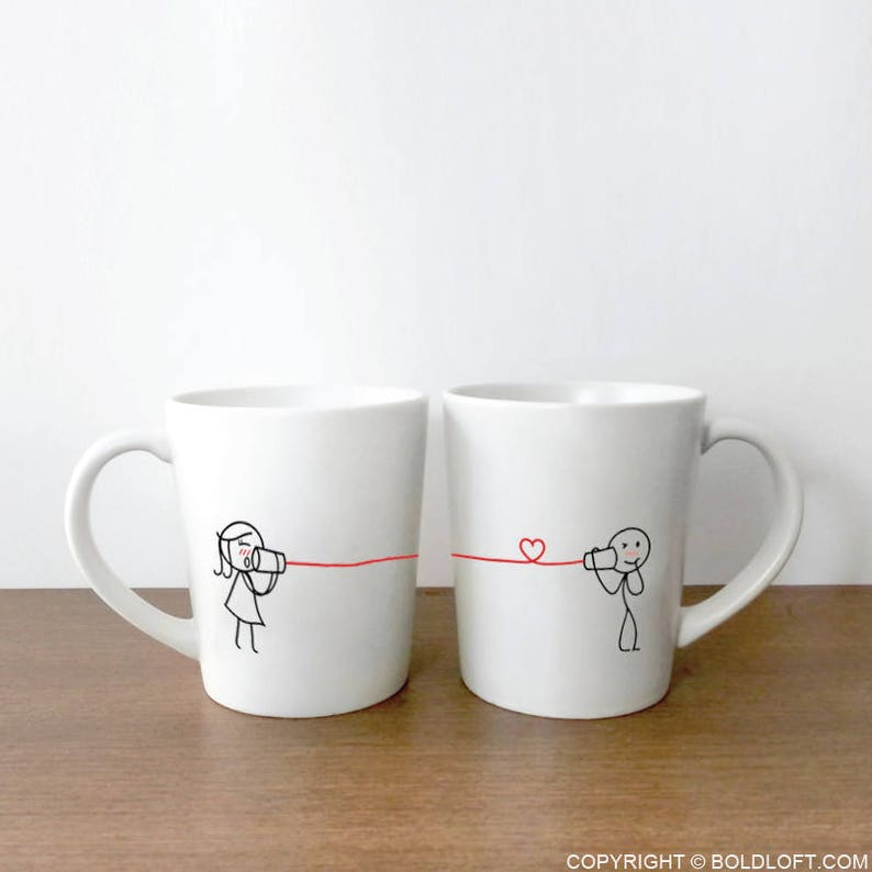 Boyfriend Gift Husband Gift His and Hers Mugs Couple Coffee image 0