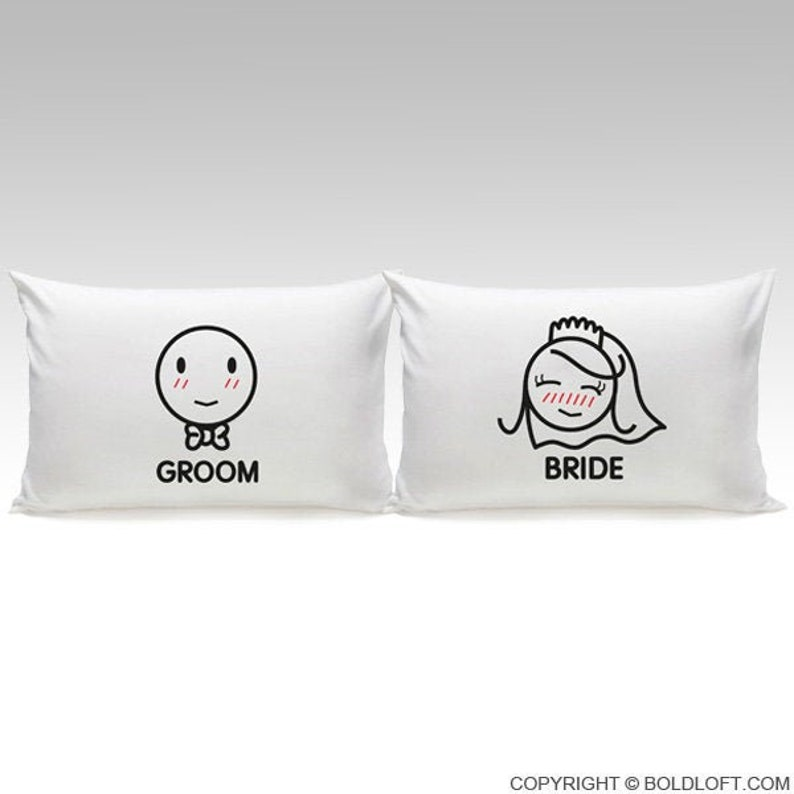 Funny Wedding Gifts.Unique Bridal Shower Gift Bride Gift Funny Wedding Gift Wedding Gift For Couple Engagement Gift Perfect Match Bride And Groom Pillowcases