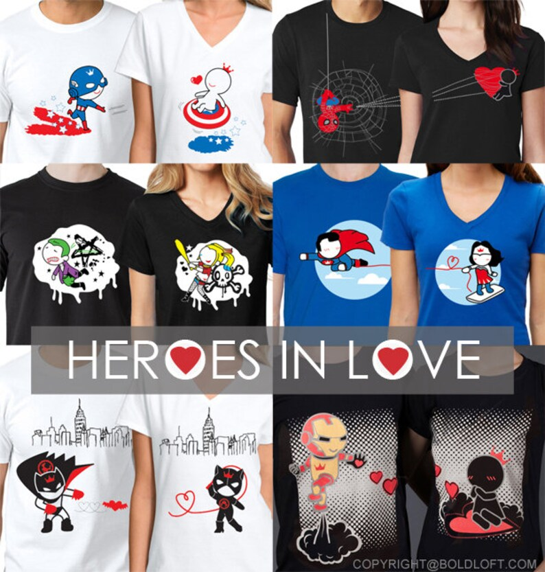 7fe635035a81 His and Hers Shirts Matching Couples Shirts Spiderman Shirt