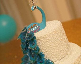 Miraculous Peacock Cake Topper Etsy Personalised Birthday Cards Veneteletsinfo