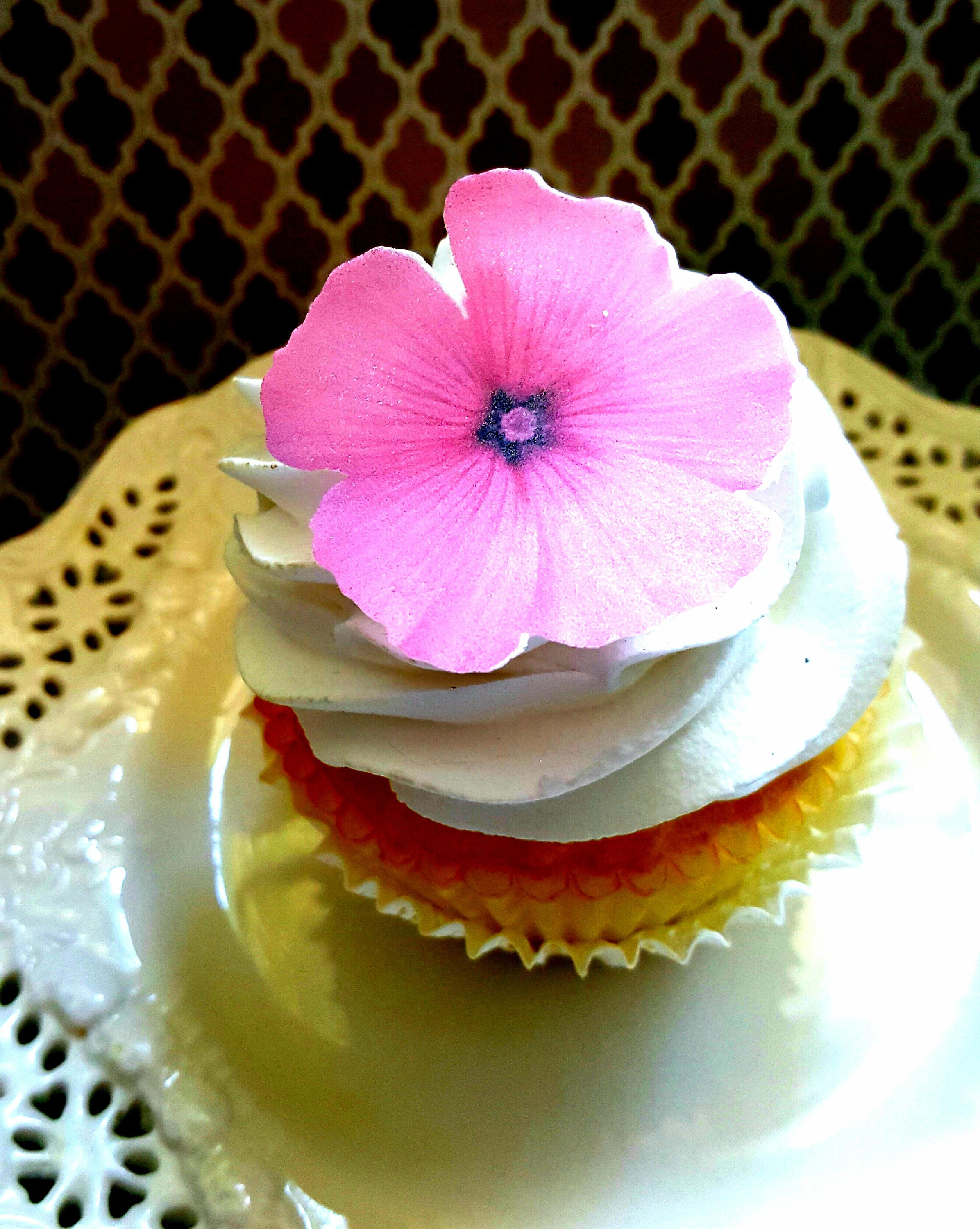 Edible Wafer Paper Pink Tropical Flower Cakecupcakecookie Etsy