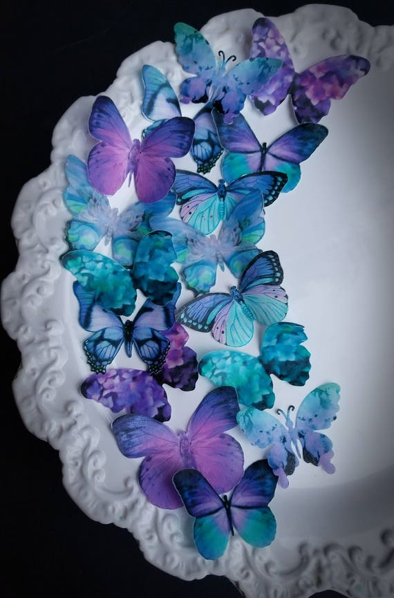Lavande Fantaisie Floral Sac à main carte 3D Toppers Pretty Lilas