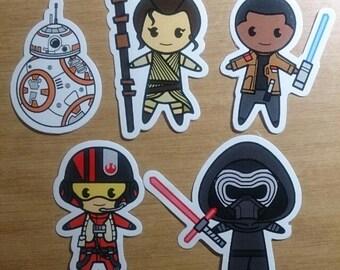 Star Wars, Harry Potter, Morticia Addams, Dexter, Dee dee, Daphne, Johnny Bravo Fan-made Chibi Stickers
