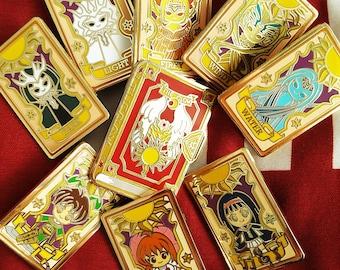 Magical Girl Sakura Clow Cards enamel pins
