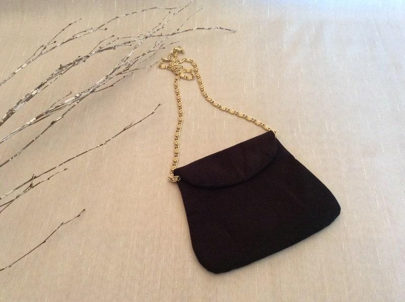 b64c489dce Vintage Black Cloth Evening Purse Shoulder Bag Vintage Vera