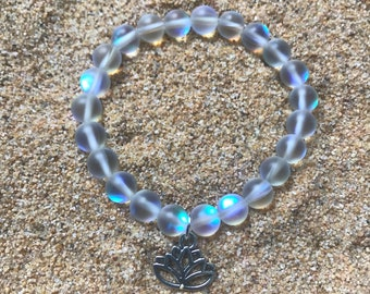 Spectrolite Stretch Bracelet (with or without charm)