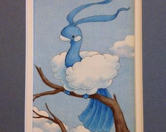 """Altaria Fan Art - Pre-matted, 8""""x10"""""""