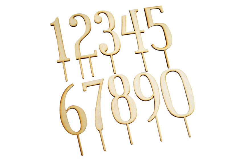ANY SINGLE Number Birthday Cake Toppers or Anniversary Cake Laser Cut Wood or Acrylic large number photo prop cake toppers