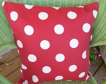 outdoor red polka dot pillow cover christmas decorative patio porch accent throw pillow cushion holiday - Christmas Outdoor Pillows
