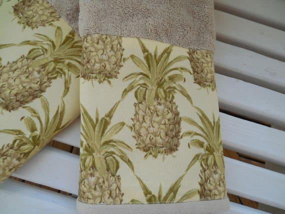 Pineapple Bath Hand Towel Guest Bathroom Decor Hospitality
