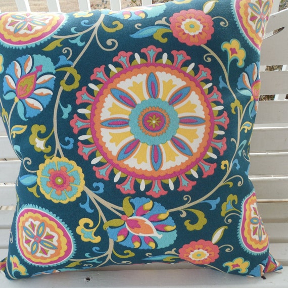 Modern Ikat Outdoor Pillow Cover Patio Porch Decorative Accent Etsy
