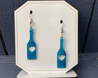 Silver dangle earrings Minimalist Silver Earrings Gift for her Paddles Geometric earrings Sterling Silver Oar earrings Gift for women