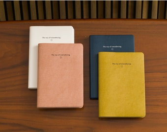 Grid Square Notebook [6 colours] 208 pages / Agenda / Bullet Journal / Grid Notebook