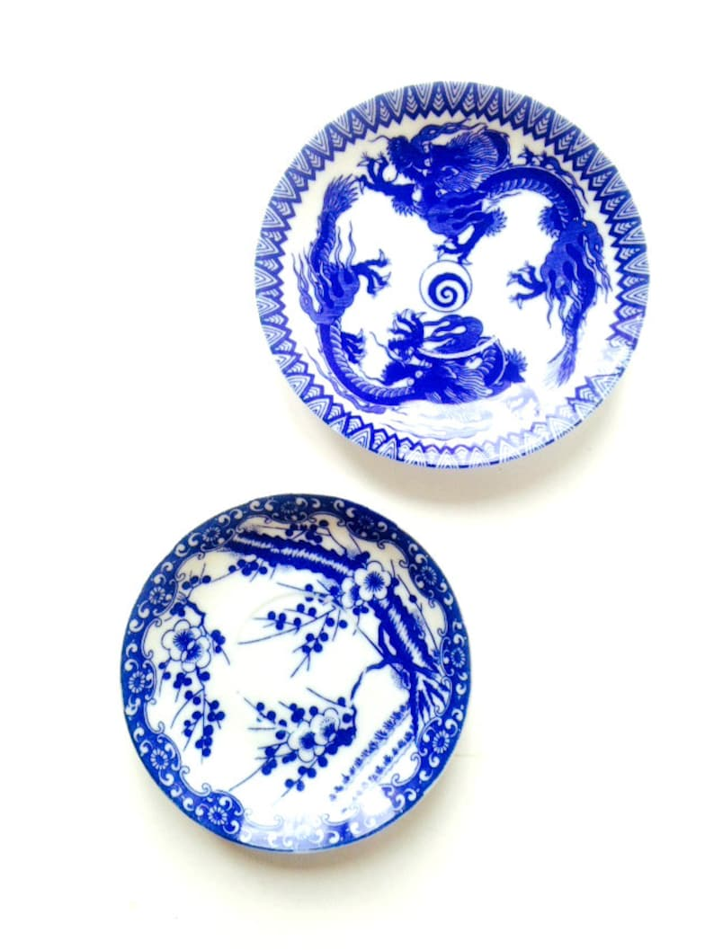 SophieLDesign made in Japan vintage Ring dishes Set of two very fine porcelain ring dishes