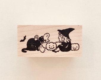 "No. 130:  ""Happy Halloween"" Rubber Stamp/ Designed by Krimgen"