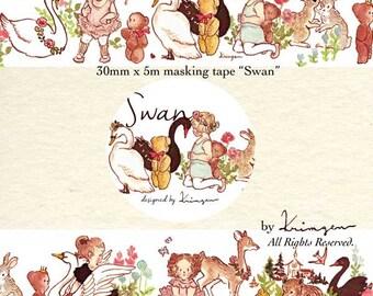 Washi Masking Tape -Swan- Designed by Krimgen