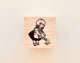 "No. 132:  ""Watering"" Rubber Stamp/ Designed by Krimgen"