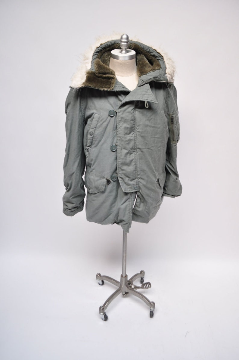 a209c9adb93 Vintage N-3B jacket military parka coat extreme cold weather