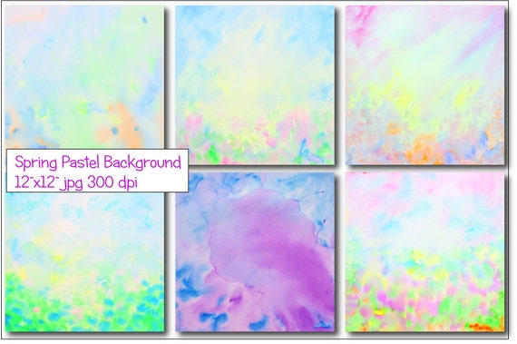 Watercolor Abstract Spring Background Instant Download For Scrapbook Wall Art Photoshop Background
