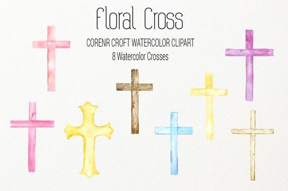 Floral Cross Digital,Floral Wooden Cross,Instant DownloadCR108