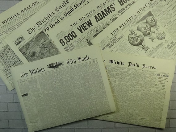 Recycle Vintage Newspaper Copies For Your Art Craft Projects Collage Junk Journals Etc