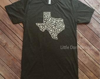 Texas love texas hearts texas home shirts