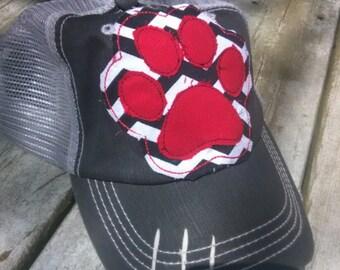 bd329781375 pawprint trucker hat