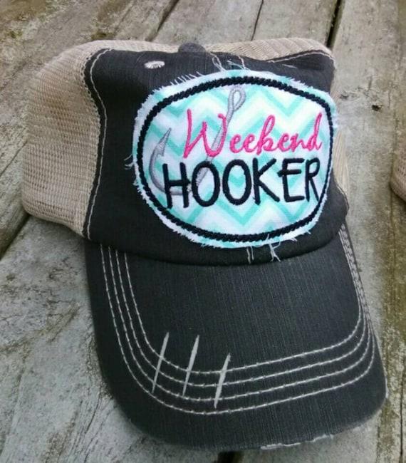 Raggy patch hat, Distressed trucker hat, Weekend hooker hat,Women's  baseball hat,mesh back hat