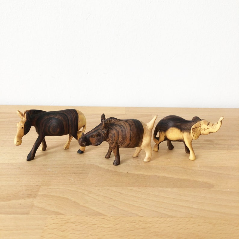 African Wooden Safari Animals // Made in Kenya image 0