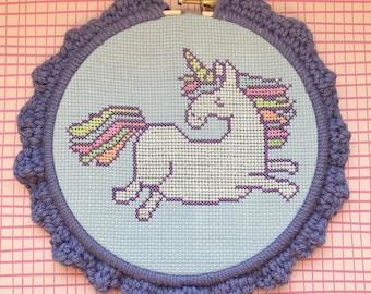 Glow in the Dark Unicorn Cross-Stitch