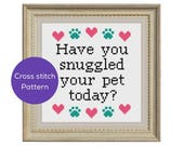Snuggled Your Pet Cross Stitch Pattern