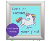Unicorn Glow Cross Stitch Pattern