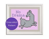 No Drama Llama Cross Stitch Pattern