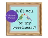Be My Tweetheart Cross Stitch Pattern