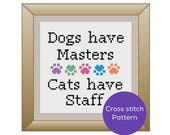 Dogs and Cats Cross Stitch Pattern
