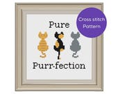 Pure Purr-fection Cross Stitch Pattern