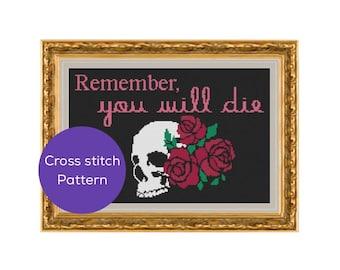 You Will Die Cross Stitch Pattern