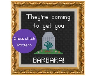 They're Coming to Get You Cross Stitch Pattern