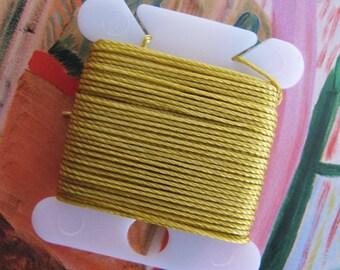 Golden Kumihino String Gold Color Beadwork Knotting String Bead Crochet Thread Craft Weaving String Spool Knitting Supplies Braiding Cord