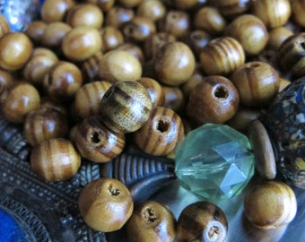108 Natural Yoga Beads Mala Burly Wood Beads 8mm Sacred Mala Beads Light Brown Wooden Necklace Bead Jewelry Supply Round Tan Wood Grain Bead