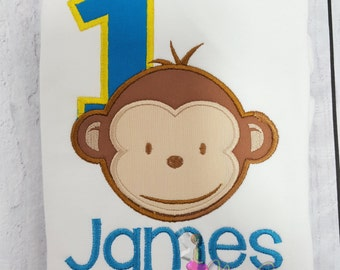 Monkey 1st Birthday Shirt