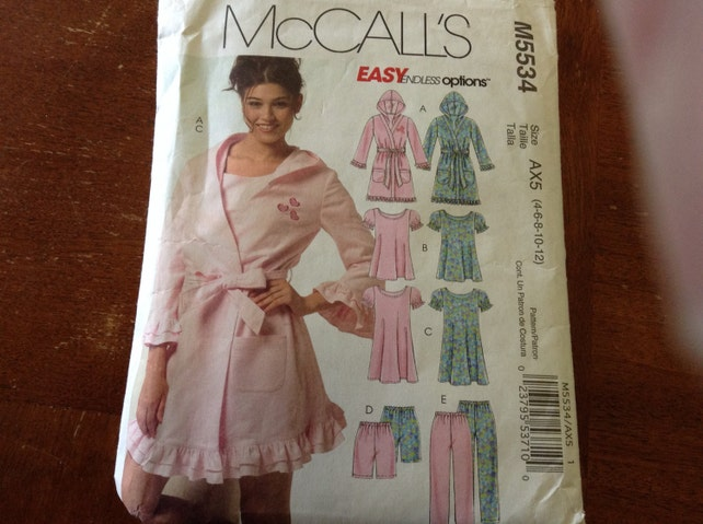 McCall\'s pattern M5534 Ladies/Teen night wear mostly | Etsy
