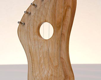 WOOD HARP/LYRE Original Hand Made 7 Strings Pentatonic scale - Mample Wood - Free tuning key
