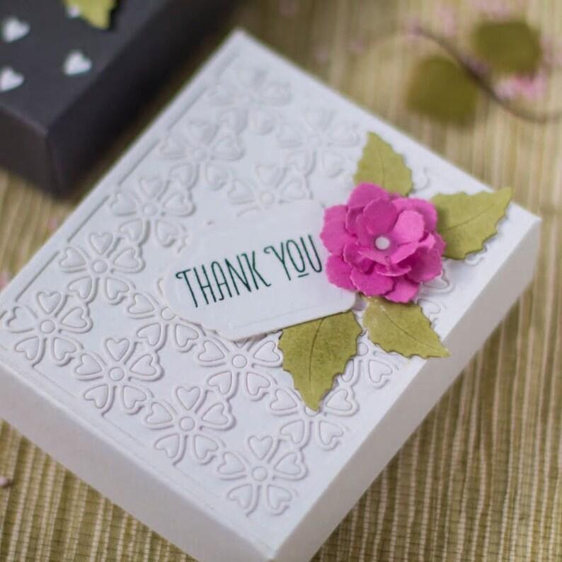3D Heart Flower Box Etched Dies Blooming Garden by Marisa Job metal cutting dies diy