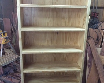 Pine Bookcase Bookshelf Display Shelf Office Furniture Bedroom Kids Library