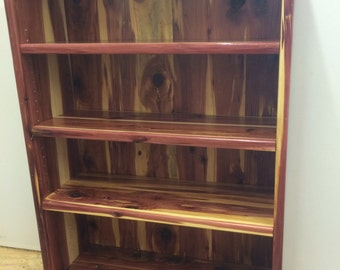 Bookcase Cedar Bookshelf Wooden Display Unit