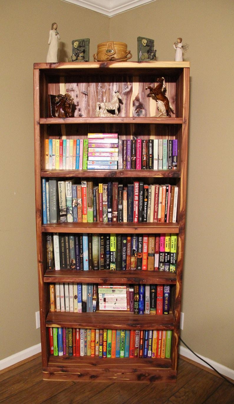 bookcase cedar bookcase bookshelf cedar bookshelf wooden image 0