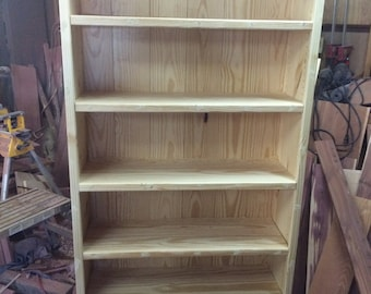 Pine bookcase, bookcase, pine bookshelf, bookshelf, display shelf, office furniture, bedroom furniture, kids furniture, library