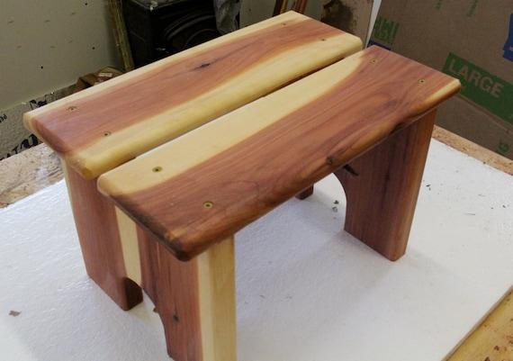 step stool, wood step stool, kids step stool, kitchen step stool, cabin  furniture pet stool